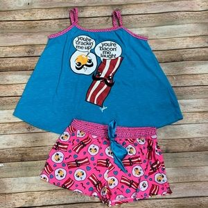 Justice Bacon and Eggs Pajama Set